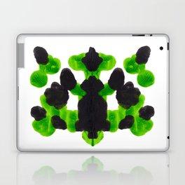 Lime Green Ink Blot Organic Pattern Laptop & iPad Skin