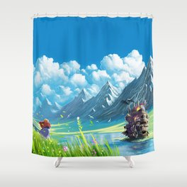 Howls Moving Castle Shower Curtain