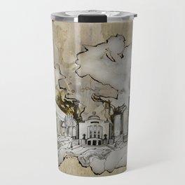 Cottbus Monument Skyline Illustration by carographic, Carolyn Mielke Travel Mug