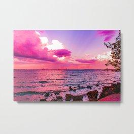 Sunset Cotton Candy Skies Metal Print