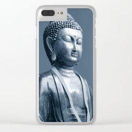 Buddha Blue Clear iPhone Case