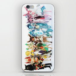 Eevee Family Rainbow Portrait iPhone Skin