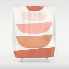 Abstract Minimal Shapes IV Shower Curtain