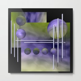 liking geometry -3- Metal Print
