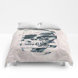 Glitch Skull Mono Comforters