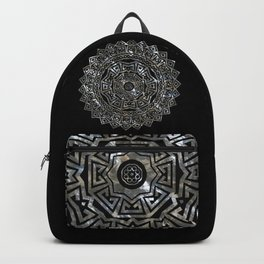 Aztec Mexican Silver Mandala Backpack