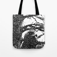 hawk Tote Bags featuring Hawk by Anand Brai