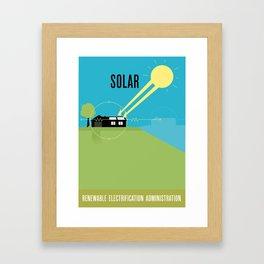 Renewable Electrification Administration - Solar Framed Art Print