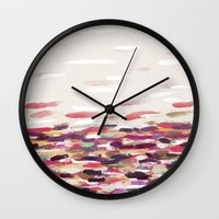 river Wall Clocks featuring River by Georgiana Paraschiv