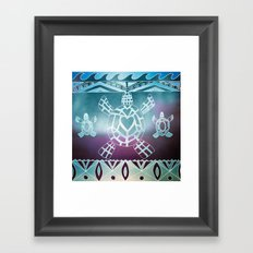 Tribal Sea Turtle Framed Art Print