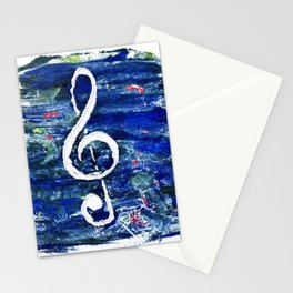 G clef or the sun key Stationery Cards
