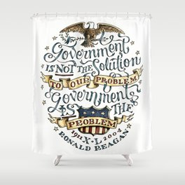 small government, larger freedom Shower Curtain