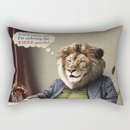 Hungry Lion Rectangular Pillow