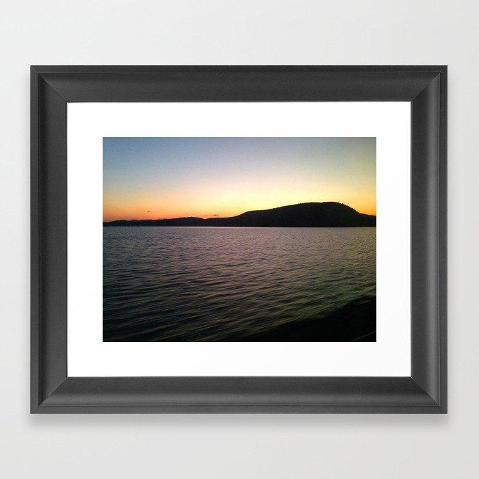Hudson River Sunset Framed Art Print