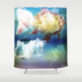 Fish Clouds Shower Curtain