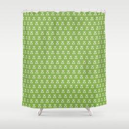 Desbrava. Goal, balance and fullness Shower Curtain
