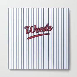 Weeds Typographic Design Metal Print
