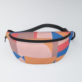 Muted Primary Bauhaus Fanny Pack
