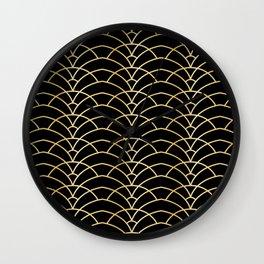 Art Deco Series - Black & Gold Wall Clock