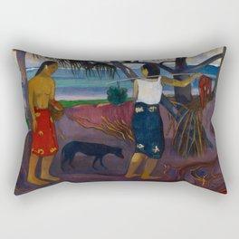 Under the Pandanus II by Paul Gauguin Rectangular Pillow