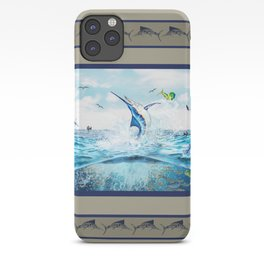 Blue Marlin hunting Mahi Mahi iPhone Case