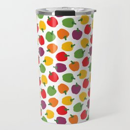 Colorful Bell Peppers Pattern Travel Mug