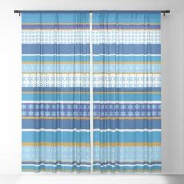 hanukkah wrap Sheer Curtain
