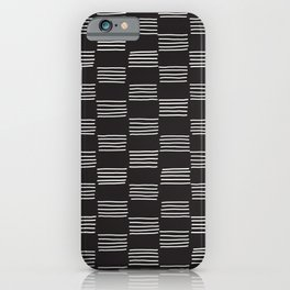 hatches –almost black and white iPhone Case