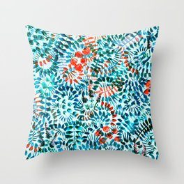 The Jungle Under the Sea Throw Pillow