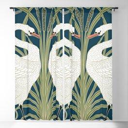 Swan Rush and Iris by Walter Crane Blackout Curtain