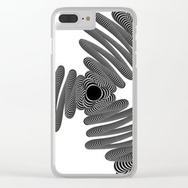 Wired in Black and White Clear iPhone Case
