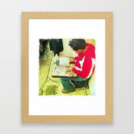 Street Artist Framed Art Print