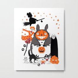 studio ghibli halloween Metal Print