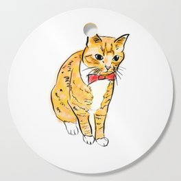 CAT WITH A BOW TIE Cutting Board