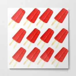 Red Popsicles Metal Print