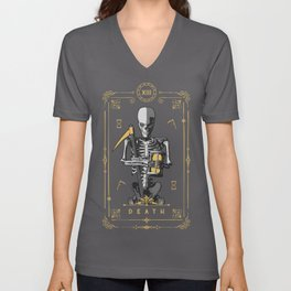 Death XIII Tarot Card Unisex V-Neck