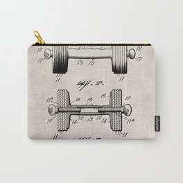 Weight Lifting Patent - Dumb Bell Art - Antique Carry-All Pouch