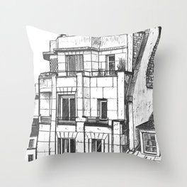 Roofs of Paris, 1932.  Throw Pillow