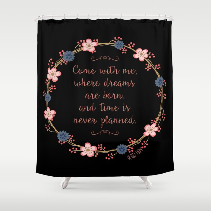 Come With Me Peter Pan Shower Curtain