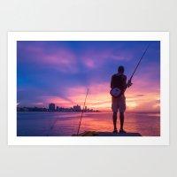 Fisherman #4 Art Print