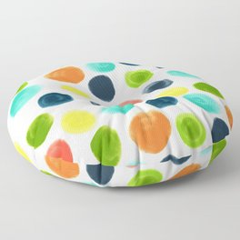 Cobblestone Watercolor Abstract Floor Pillow