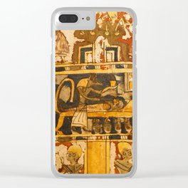 Egyptian Ancient Art Clear iPhone Case