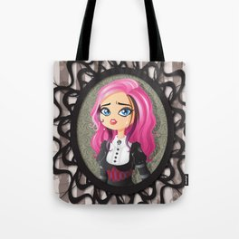 Gothic doll crying Tote Bag