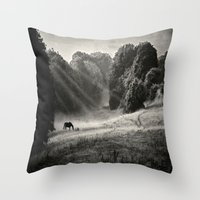 serenity Throw Pillows featuring Serenity by Mark Bagshaw Photography