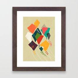 Whimsical kites Framed Art Print