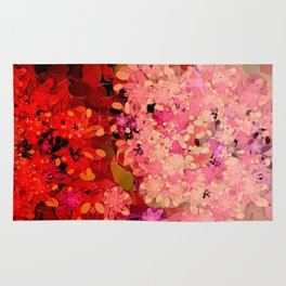 Two Different Worlds -- Floral Pattern Rug