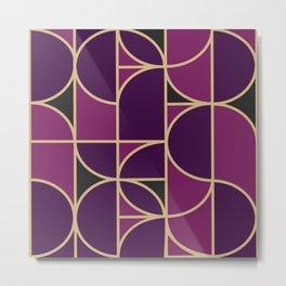 Art Deco Morning Dance In Purple In Big Scale Metal Print