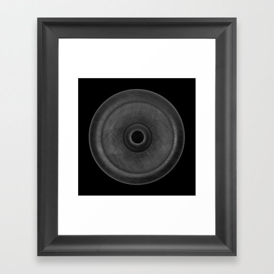 Demi-Stock Black Piece 3 Framed Art Print