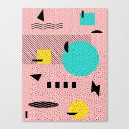 Hello Memphis Peach Berry Canvas Print