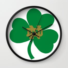 The Irish Clover in Green Wall Clock